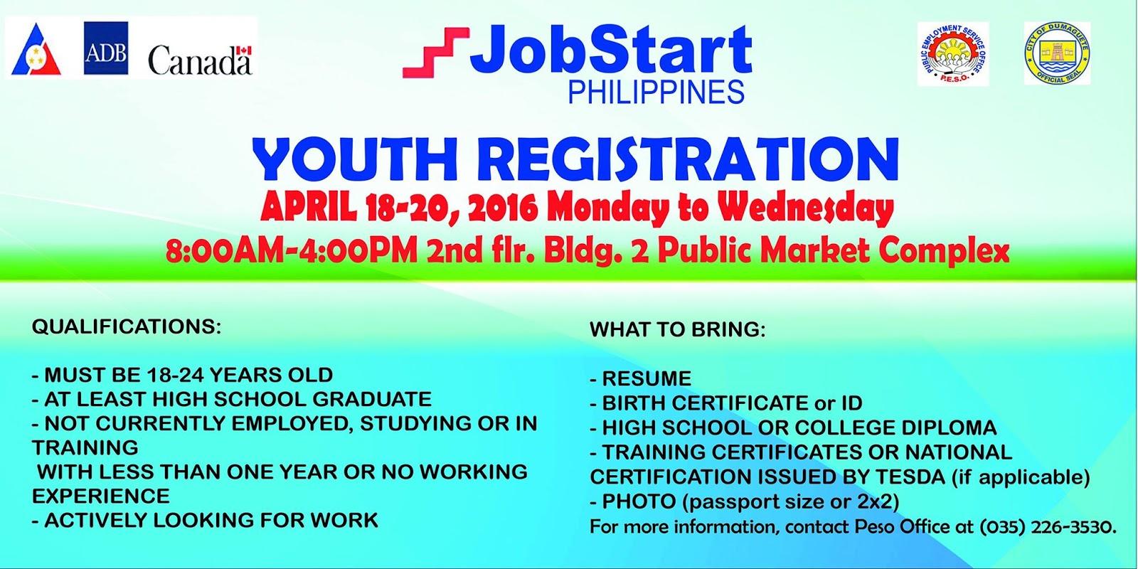Public employment service office dumaguete city jobstart jobstart philippines program aiddatafo Image collections