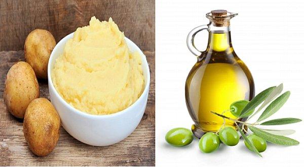 Cách làm trắng da bằng khoai tây và dầu oliu