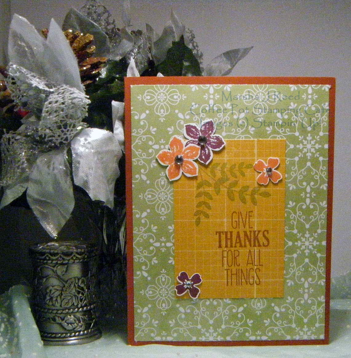 Coffee Pot Stamping Cafe: Give Thanks