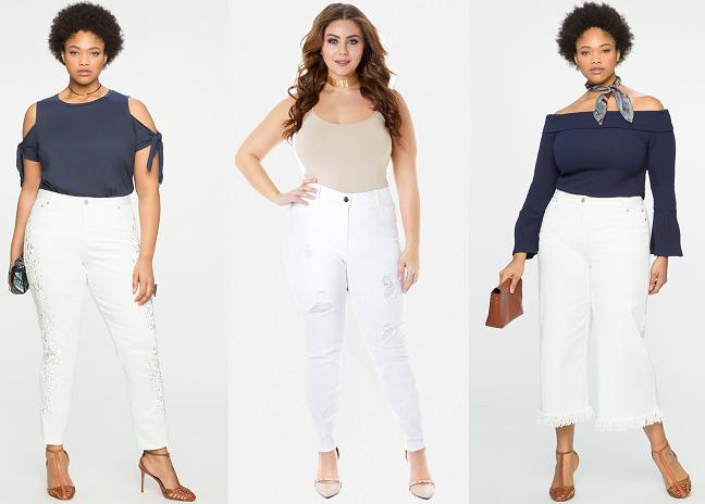 Womens Plus Size White Skinny Jeans