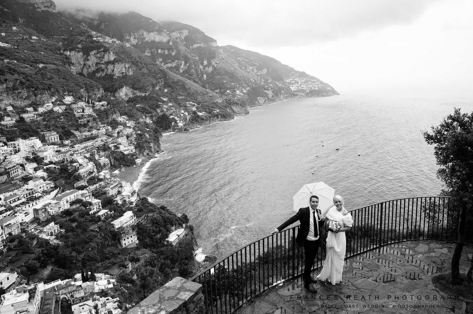 Wedding with a view overlooking Positano