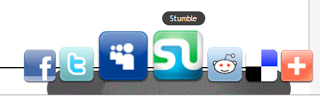OS X Style Social Sharing Bookmark Widget