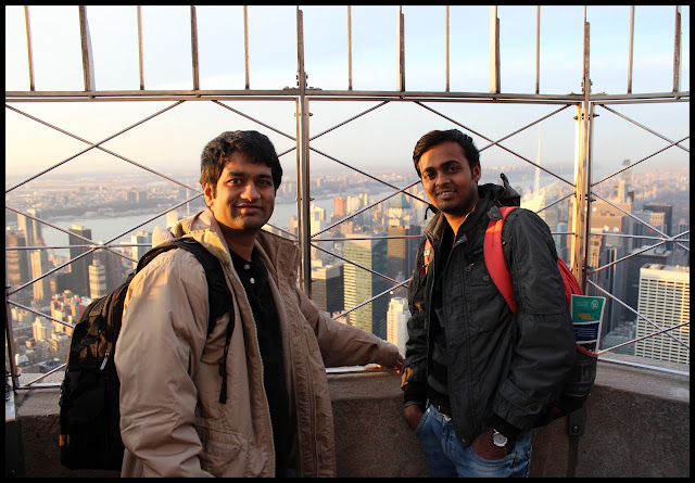 Pritesh at Empire State building