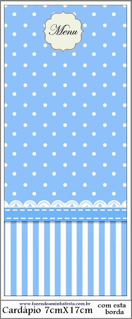 Light Blue with Stripes and Polka Dots First Communion Free Printables.