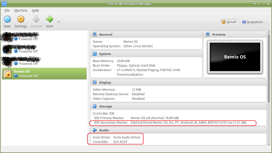 Ah Lam's Note: Install Remix OS on VirtualBox