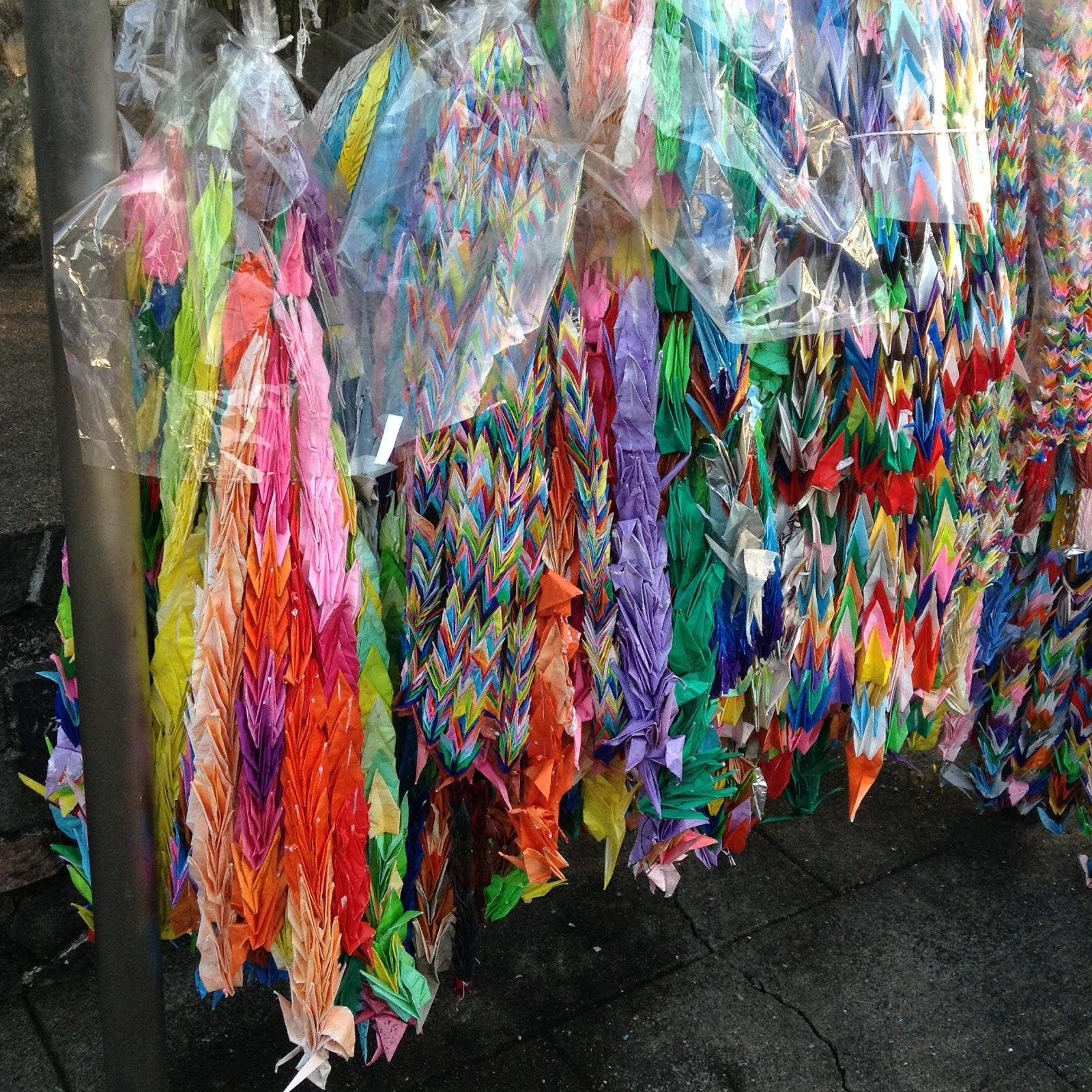 Peace Origami cranes Nagasaki