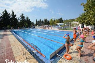 Κολυμβητικοί αγώνες στα πλαίσια της λήξης λειτουργίας του ανοικτού κολυμβητηρίου Κολινδρού 2017