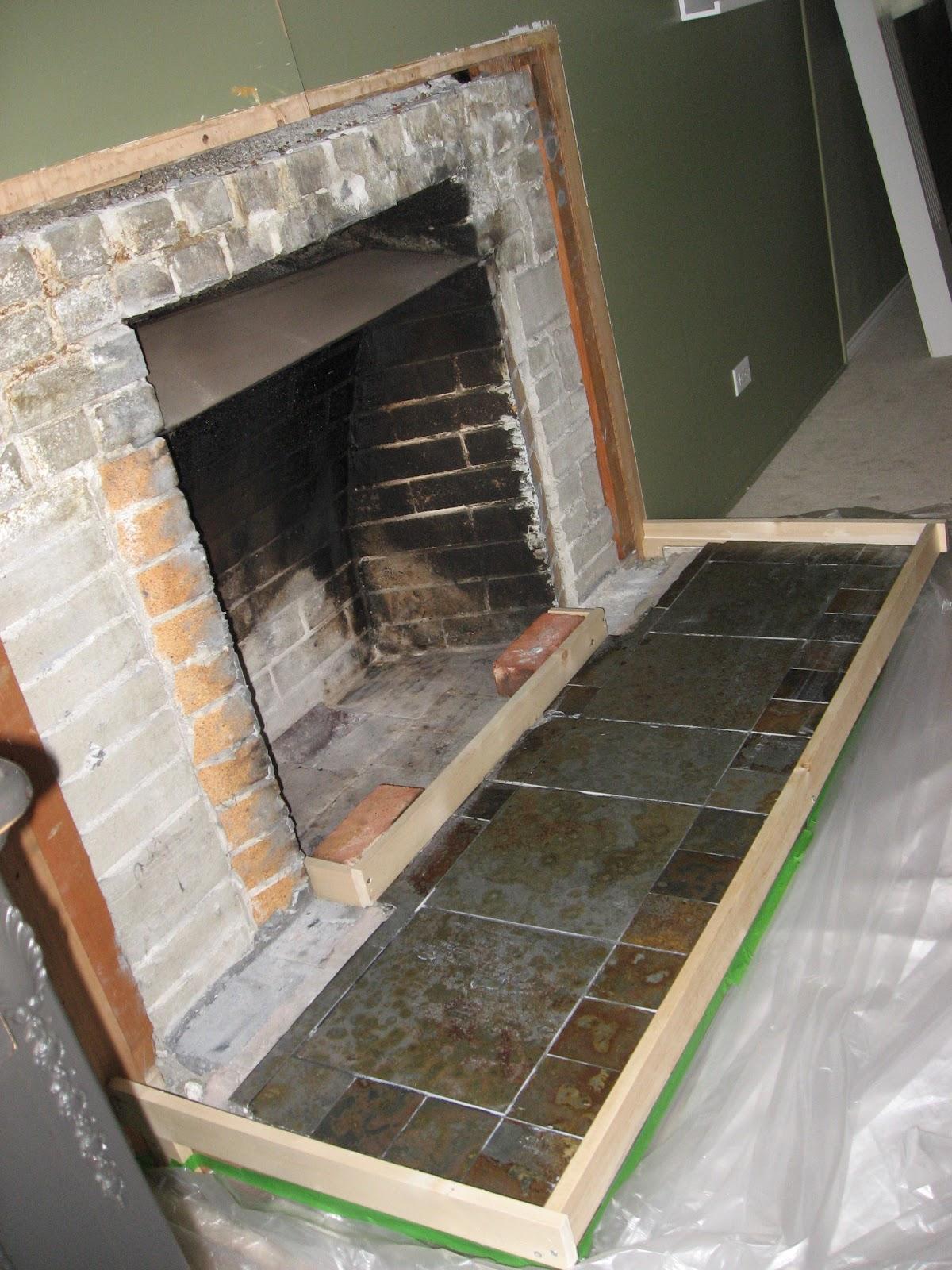 Heather S Home Improvements Livingroom Fireplace Remodel