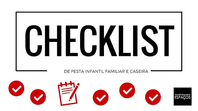 Checklist de festa de criança