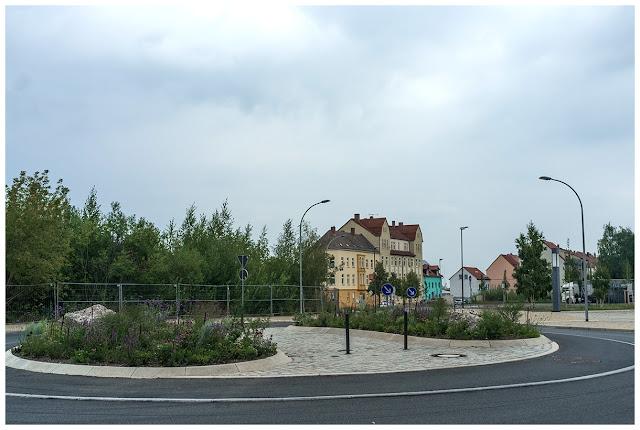 Blick von der Schützenstraße zur Posaer Straße in Zeitz