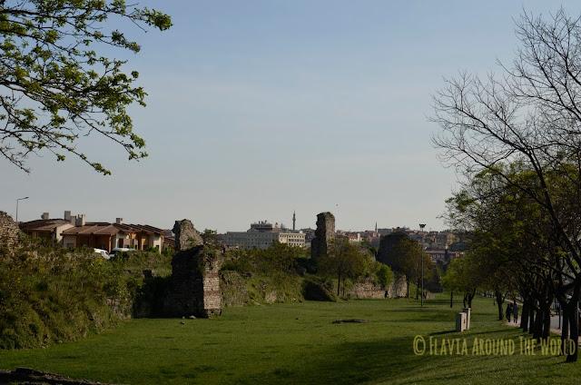 Parte de las murallas de Constantinopla