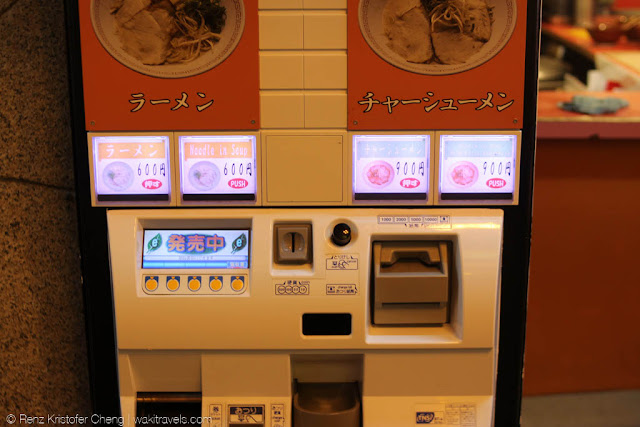 Ramen Vendo Machine in Dotonbori