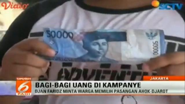 [Video] Djan Faridz Bagi Uang dalam Kampanye Ahok-Djarot, Anak-Anak Nyaris Terinjak