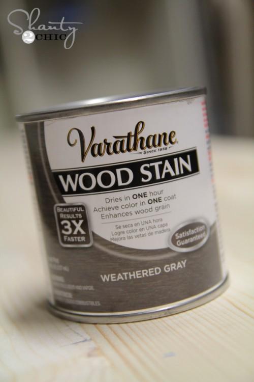 Wood Stain - DIY Desk Nightstand