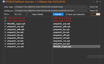 DpfileList Generator Tool   V1.4   FINAL   PES2018   Released [29.01.2018]
