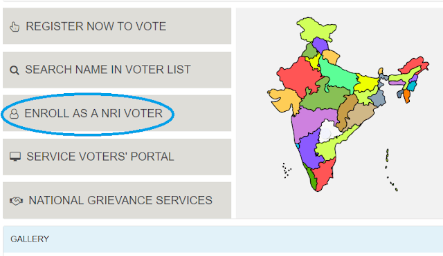 NRI VOTERS PROCEDURE TO REGISTER FOR VOTE ONLINE