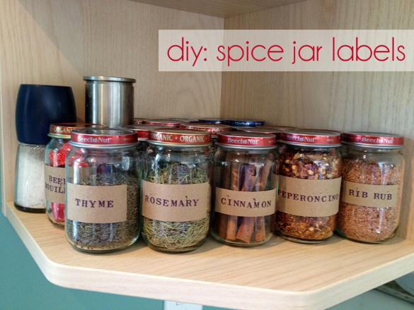 the forge diy spice jar labels