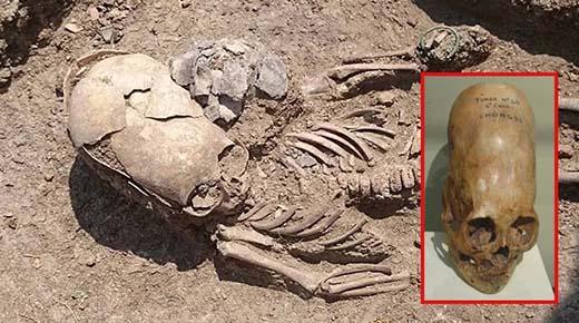 Esqueleto de un niño alienígena recuperado de una tumba antigua