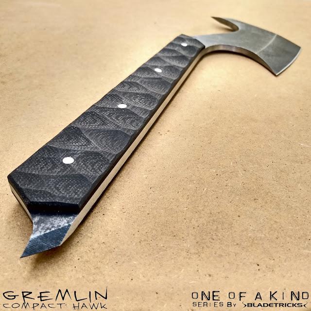 Bladetricks custom handcrafted tomahawk black G10 handle