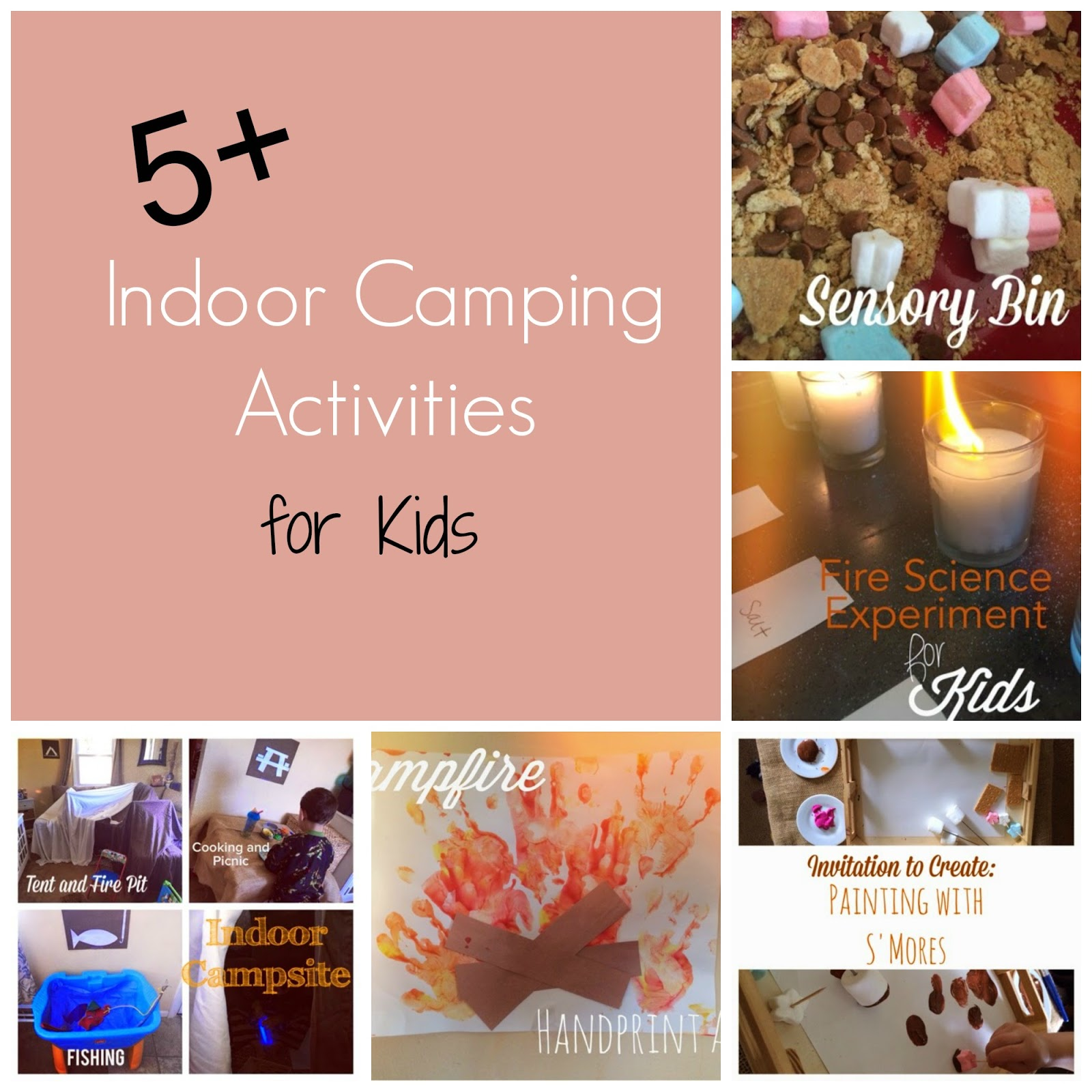 Kids Love To Pretend Have An Indoor Camping Trip Complete With Art Projects