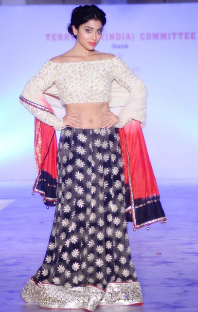 Shriya Saran in Lehenga Designed by Maheka Mirpuri