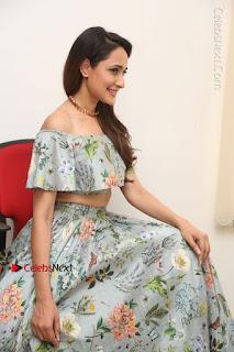 Actress Pragya Jaiswal Stills in Floral Dress at turodu Interview  0161.JPG