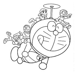 Gambar Doraemon Hitam Putih 1