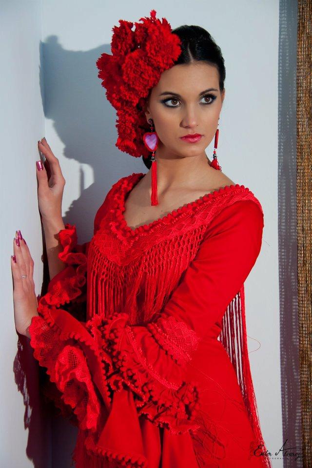 creacionesmila: Moda flamenca en rojo