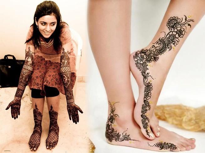 Wedding Mehndi On Feet