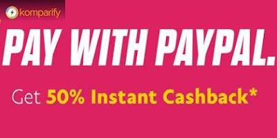 Komparify PayPal Cashback Offer: Get 50% Cashback Upto 200