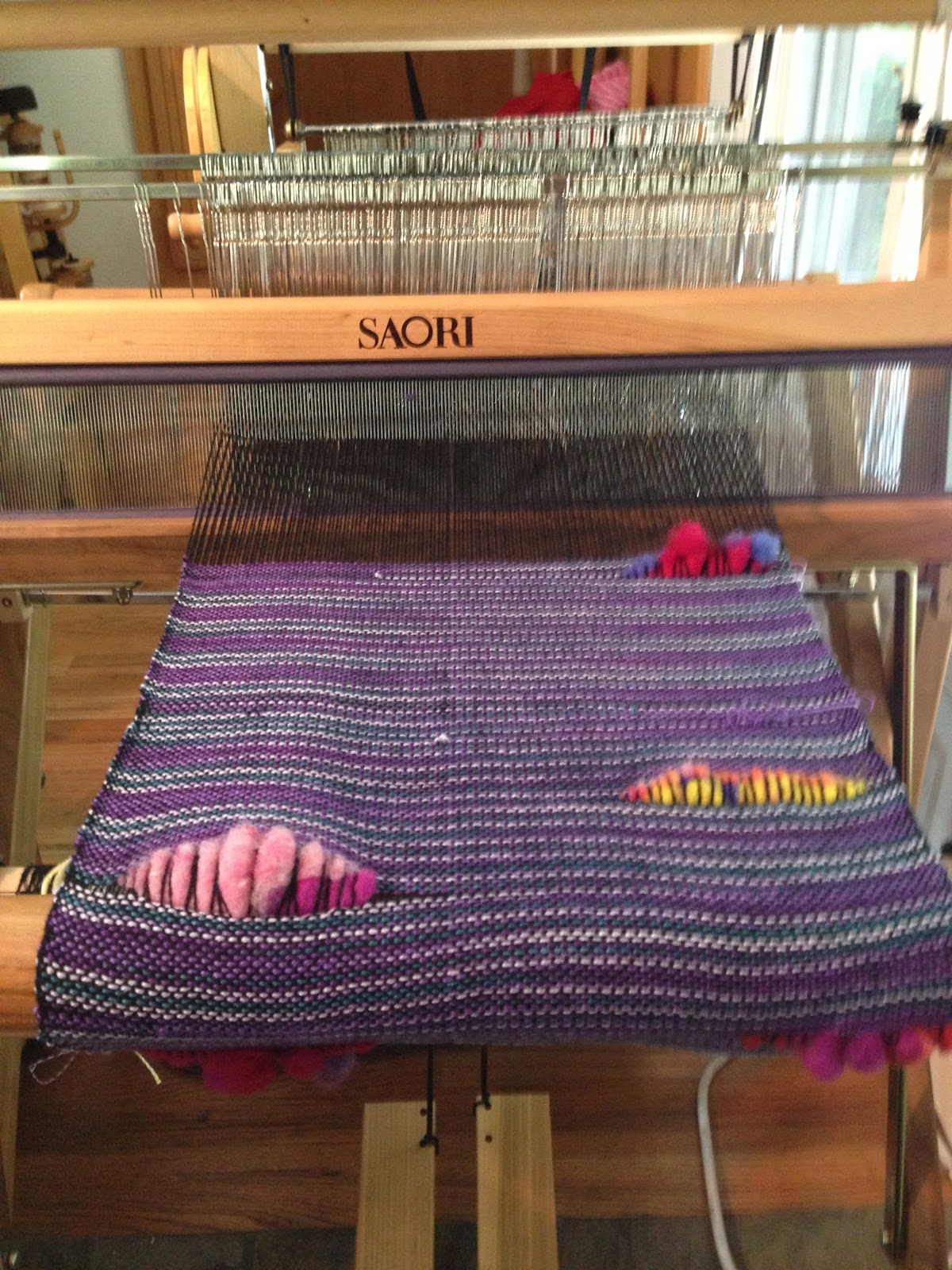 Two Wheel Dolly >> CENTERING WITH FIBER: Saori looms, two sisters and there friend Saori weaving