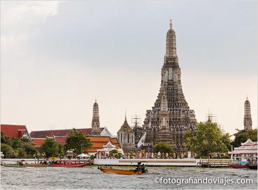 Wat Arun, Wat Chaeng o templo del amanecer en Bangkok,