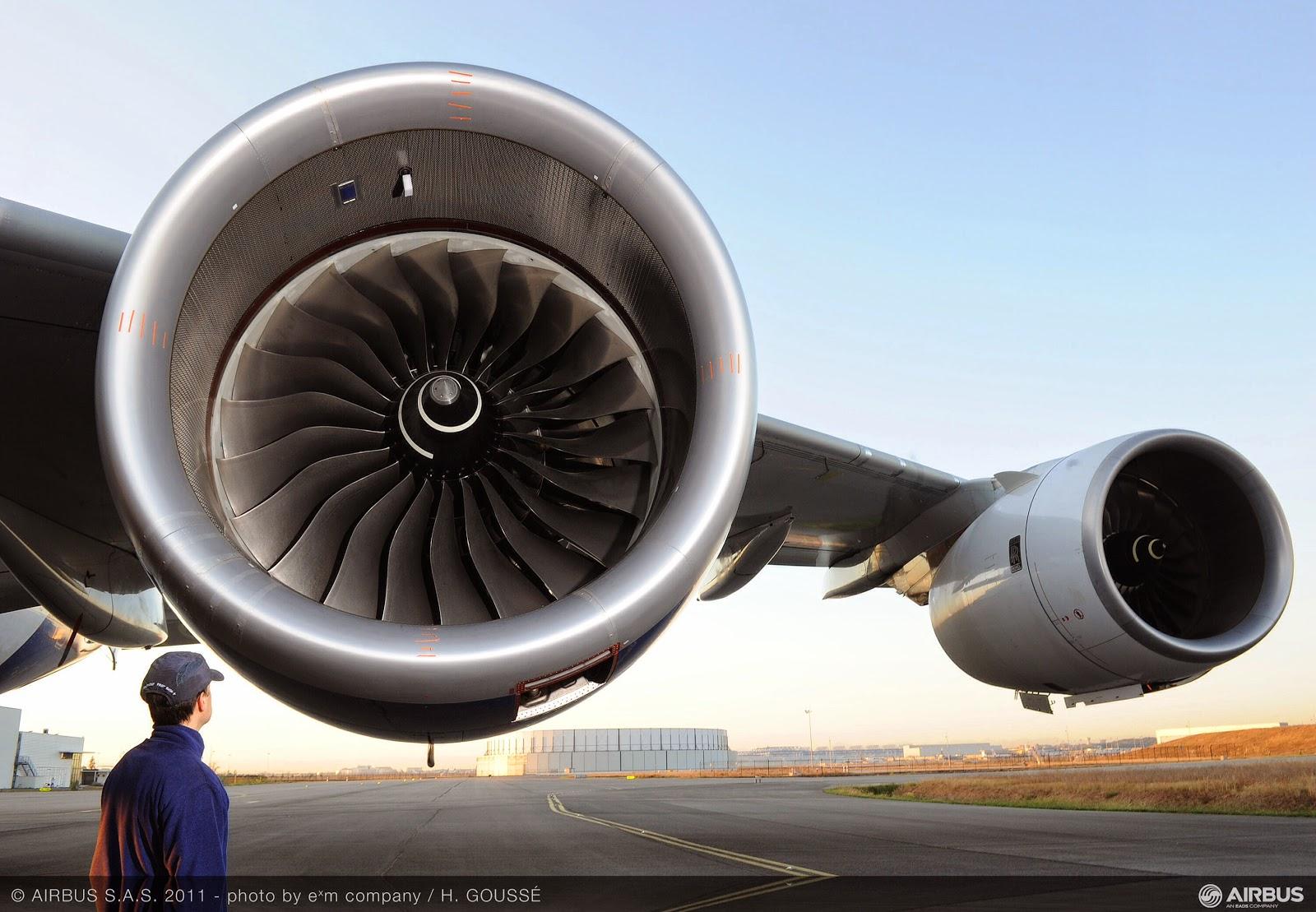 Image on Airplane Engine Start Up