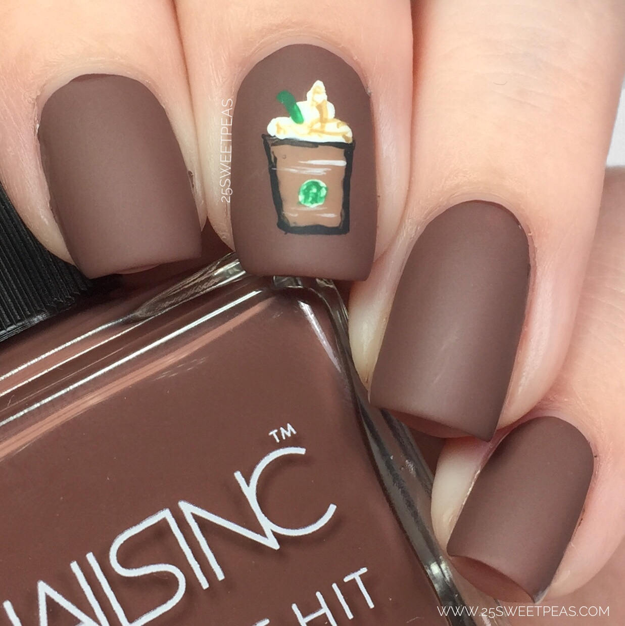 Coffee Art Nails Nails Inc Caffeine Hit 43 National Coffee Day Nail Art 25