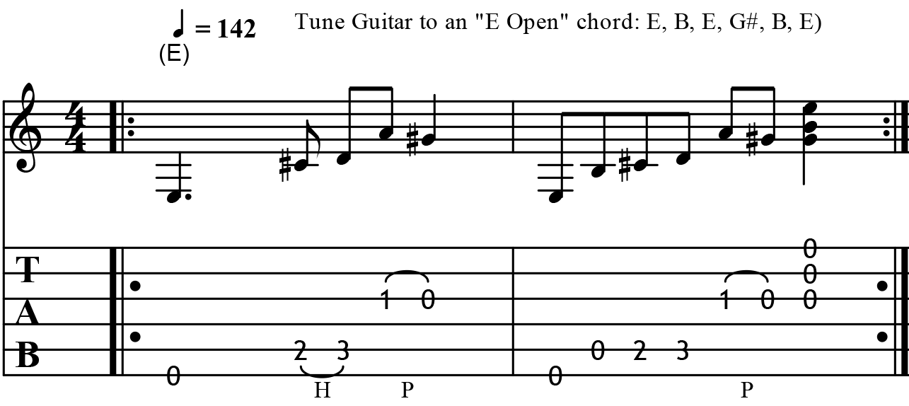 Famous Open E Tuning Chords Images Basic Guitar Chords For
