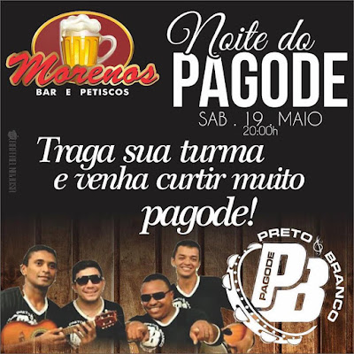 NOITE DO PAGODE MORENOS BAR E PETISCOS EM LIMA CAMPOS