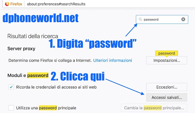 come risalire alla tua password di facebook con mozilla firefox