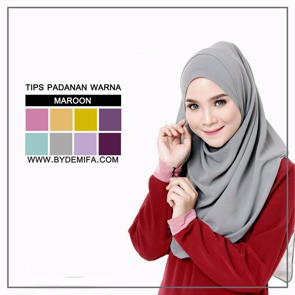 Tips Padanan Warna Maroon