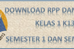 Download RPP Silabus K13 Kelas 1 Revisi 2016 Terlengkap untuk SD