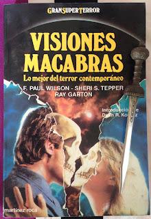 Portada del libro Visiones macabras, de varios autores