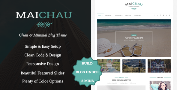 Maichau - Clean & Minimal WordPress Blog Theme Free Download