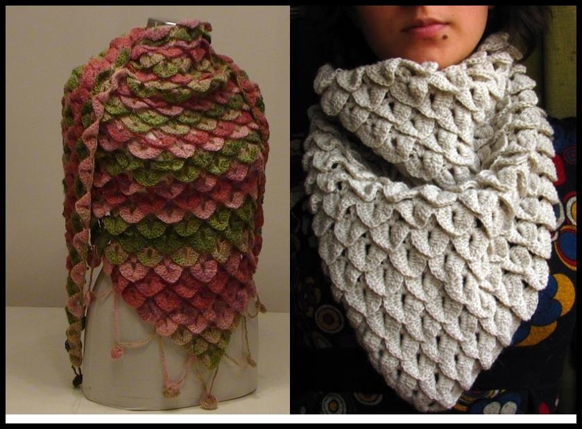 Moderno Crochet Patrón De Cocodrilo Puntada Composición - Manta de ...