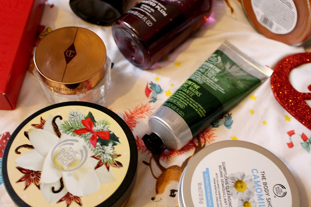 winter pamper routine, danielle levy, charlotte tilbury, the body shop, paperchase, butlers chocolates