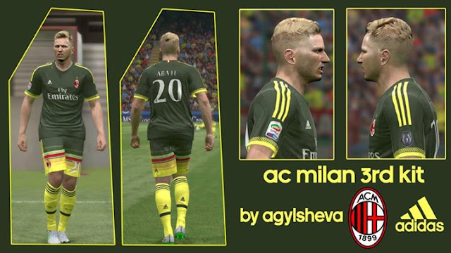 the latest a3a3a 8005a PES 2015 Ac Milan 3rd Kit 2015-2016 - PATCH PES | New Patch ...
