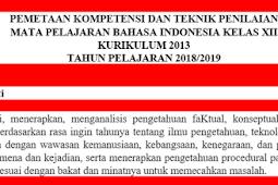 Pemetaan KD Bahasa Indonesia Kelas 12 K13 Revisi 2018