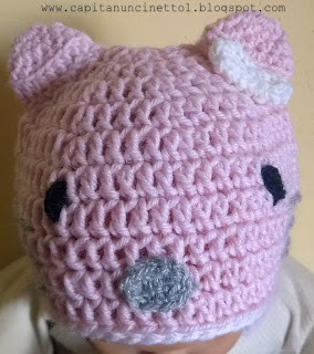 Cappello Hello Kitty uncinetto