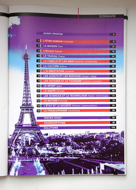"""Recenzje #20 - """"Repetytorium z języka francuskiego"""" + konkurs - spis treści - Francuski przy kawie"""