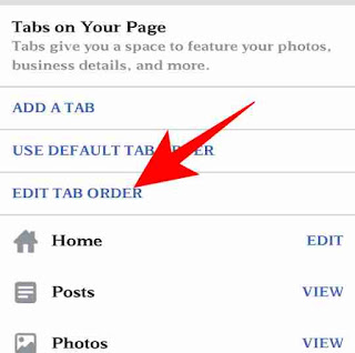 Facebook page me tab add or customize kese kare 5