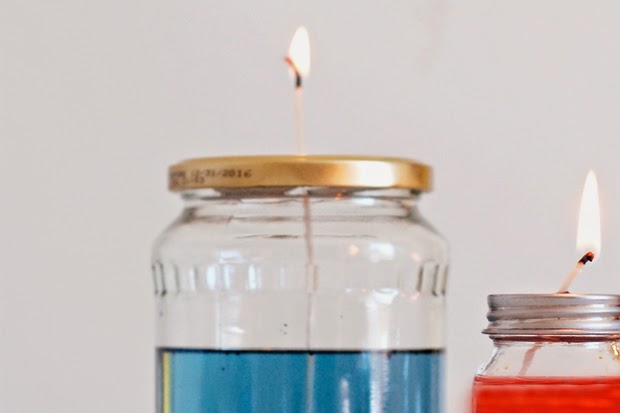 How to Make Colorful Oil Lamps