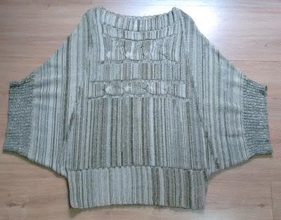 blusa mesclada em tricot tam M